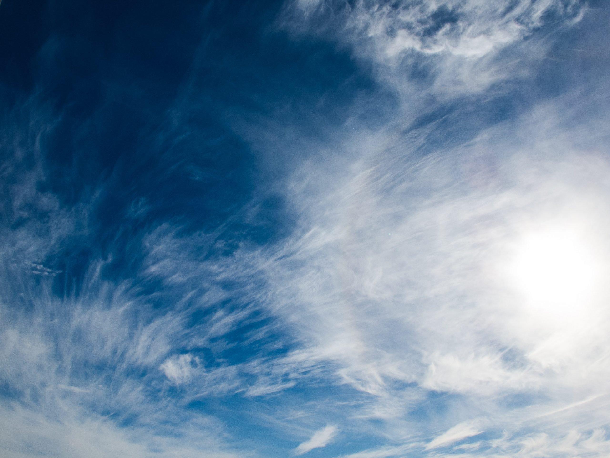 I am the infinite clear blue sky